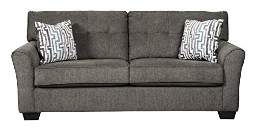 (Benchcraft - Alsen Contemporary Upholstered Sofa Sleeper - Full Size Mattress Included - Granite)