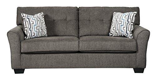 Benchcraft - Alsen Contemporary Upholstered Sofa Sleeper - Full Size  Mattress Included - Granite