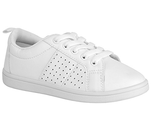 Chillipop White Fashionable Sneakers for Girls Tennis Shoes by Chillipop