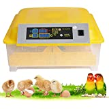 elifine Incubators for Hatching Eggs, Digital Egg Incubators with Automatic Egg Turning,48 Eggs Poultry Hatcher Machine Mainl