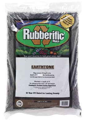 Rubberific Rubber Mulch Bagged Brown (Chips Wood Landscaping)