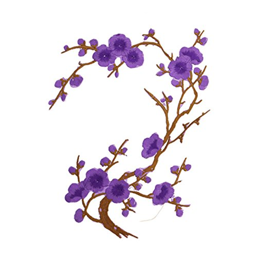 Xuuaiq 1Pc Blossom Flower Applique Clothing Embroidery Patch Sticker Iron On Sewing Decors DIY Apparel Sewing Fabric Patches Women Gift