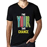 Men's Vintage Tee Shirt Graphic T Shirt V Neck Find Your Own Chance