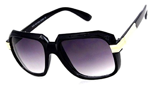 Gazelle Emcee Oversized Square Sunglasses (Black & Gold Frame, - Gazelle Sunglasses