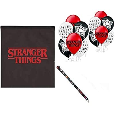 FAT CAT SALES Stranger Party Pack with Bag,Balloons & Lanyard: Toys & Games