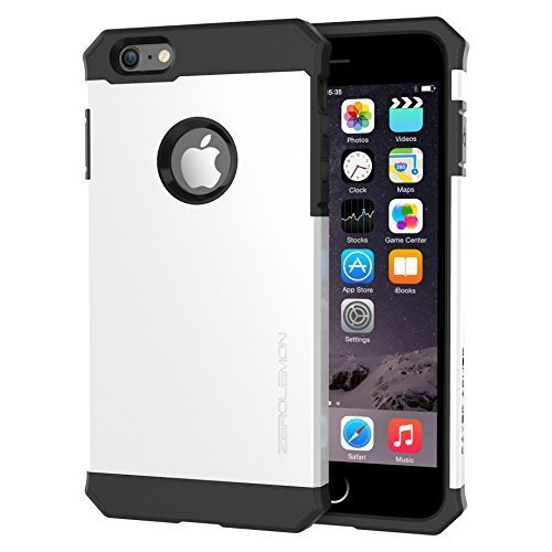 ZeroLemon Slim Dual Layer Razor Armor Protective Case for Apple iPhone 6/6s Plus - Black / White (White Razor Case Cell Phone)