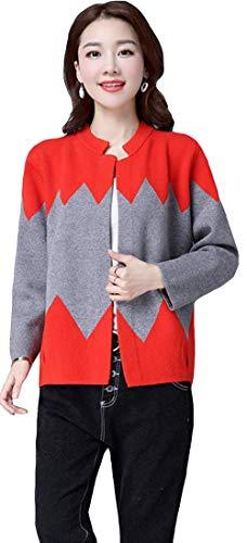 MengFan 秋物 カーディガン 長袖 レディース セーター コート バイカラー ボタンなし エレガント オフィス トップス スリム 着痩せ フォーマル アウター ファッション 韓国風 通勤