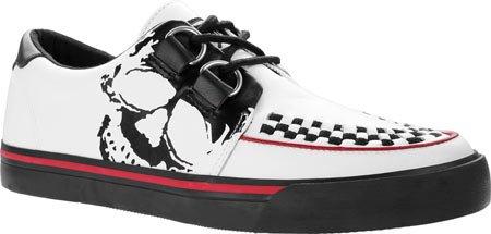 Skull k Sneaker T Leather Shoes u Creeper White Vlk Print Men's FfwwI5q