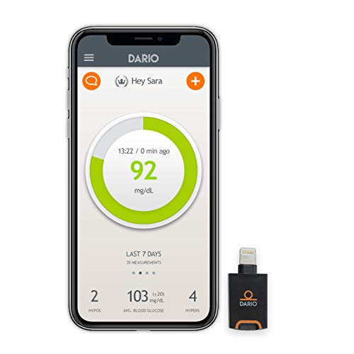 Dario Blood Glucose Meter kit with Strips for iPhone