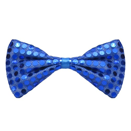 [SeasonsTrading Blue Sequin Bow Tie ~ Fun Costume Party Accessory (STC12062)] (Fun Cheap Easy Halloween Costumes)