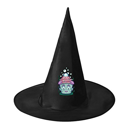 Cup Cake Dark Pearl Conical Cosplay Witch Hat Toy to Halloween Costume Ball for Unisex Kids Adults