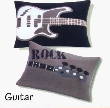 Guitar Double Sided Decorative Pillow