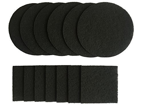 Compost Bin Filter Refill Activated Carbon Filter Freshens Air and Traps Odors 12 Pack