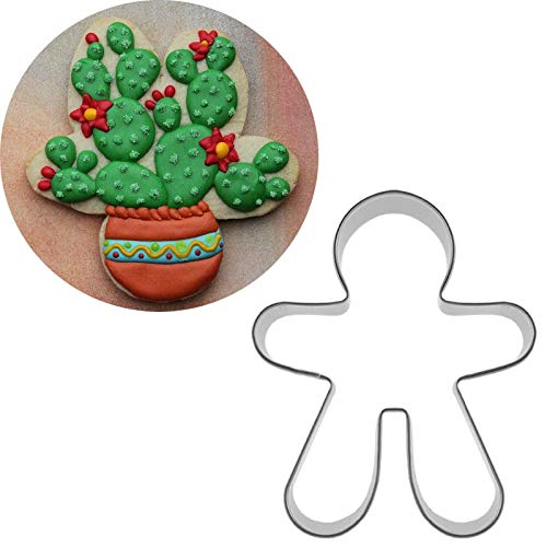 1 piece 1pcs patisserie reposteria Bake Cactus Pot Moldes Metal Cookie Cutter Fondant Cake Decor Cupcake Toppers Chocolate Pastry Mould ()