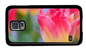 Hipster Samsung Galaxy S5 Case personalize yellow pink tulip PC Black for Samsung S5