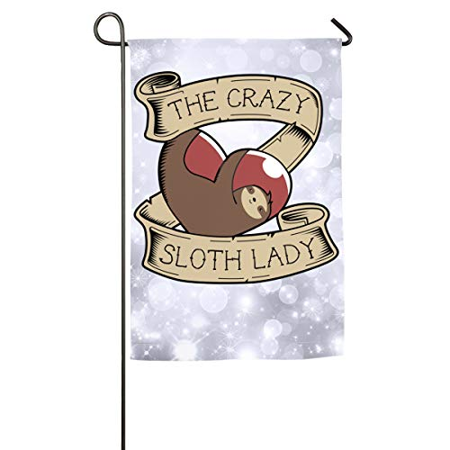 Sakanpo The Crazy Sloth Day Home Family Party Flag 100 Hipster Welcomes The Banner Garden Flags