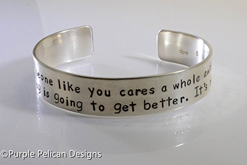 Sterling Silver Dr. Seuss Quote Cuff - Unless Someone Like You...