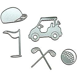 CMrtew New Cutting Dies Stencil Frame Metal Template DIY Paper Card Decoration (H:Golf set)