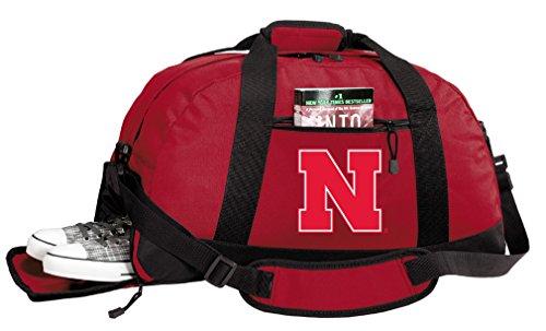 Broad Bay University of Nebraska Duffle Bags - Nebraska Huskers Gym Bag w/Shoe Pockets ()