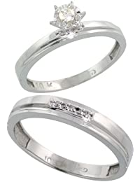 Amazoncom Sterling Silver Bridal Sets Wedding Engagement