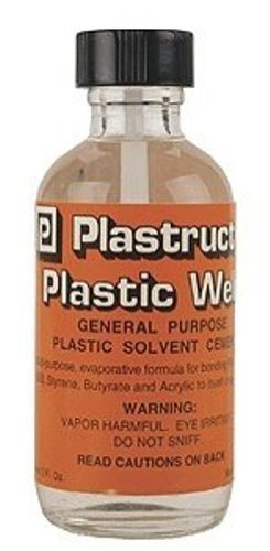 (Plastruct Plastic Weld w/applicator 2oz Bottle)