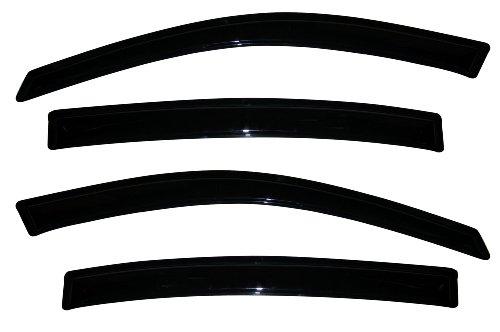 (Auto Ventshade 94392 Original Ventvisor Side Window Deflector Dark Smoke, 4-Piece Set for 2006-2012 Buick)