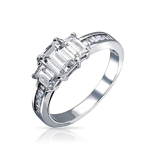 Alluring 3 Stone Ring - 1