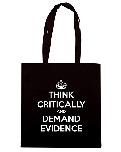 CRITICALLY AND KEEP Shirt TKC4144 CALM Borsa DEMAND EVIDENCE Nera Shopper THINK AND Speed X0w6xzqz