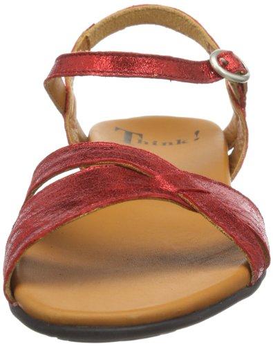 Think Jaeh - Zapatos de pulsera Mujer Rojo (Rot (kirsch 73))