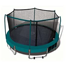Trainor Sports Deluxe 15' Trampoline Combo with shoe bag and roll-a-way wheels