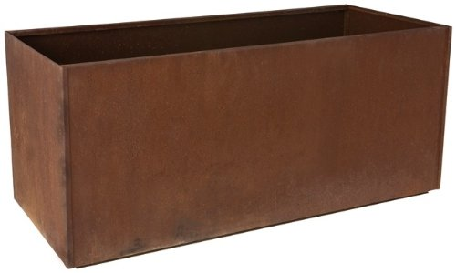 Planter Large Rectangular (Nice Planter Corten Steel Trough Planter, 20