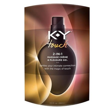 K-Y Touch 2-in-1 Massage Crème & Pleasure Gel, 3 oz. (Pack of 3) (Ky Touch Massage 2 In 1 Tingling)