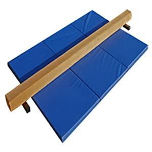 The Beam Store Tan Suede Beam and Blue Mat Combo (8 Feet) Made in USA