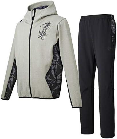 プラクティススウェットジャケット&スウェットパンツ上下セット(グレー杢ブラック/ブラックB) DBMOJF23-GRM-DBMOJG23-BK