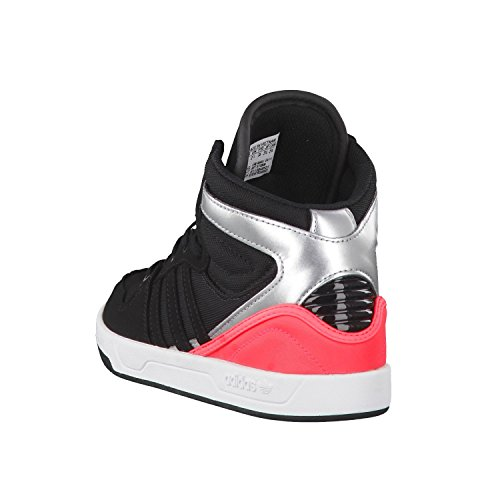 adidas Court Attitude K, Zapatillas de Deporte Unisex Bebé Negro / Rojo / Plateado (Negbas / Negbas / Rojimp)