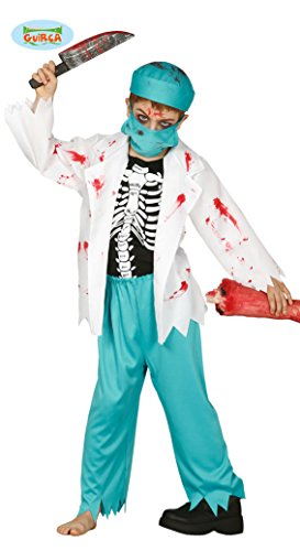 [Halloween Children's Zombie Doctor Or Vet Costume Age 7-9] (Zombie Doctor Childrens Costumes)