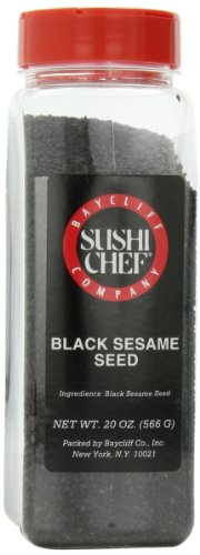 Sushi Chef Black Sesame Seed, 20-Ounce Plastic Containers (Pack of 2)