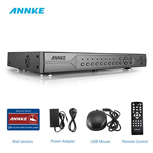 ANNKE AHD-720P 32-Channel High Resolution Recording Surveillance Standalone DVR Recorder, P2P Technology, QR Code Scan Remote Access,Support 960H/AHD/TVI/CVI/IP Camera, NO HDD