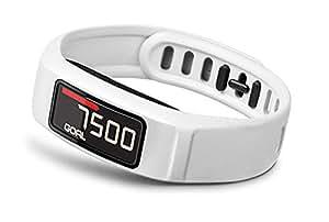 Garmin vívofit 2 HRM - Pulsera de actividad con pulsómetro, color blanco
