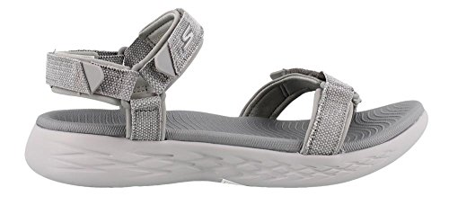 Women's Skechers The 600 On Gray Go Sandal 15315 Sport 1qfaW7qn