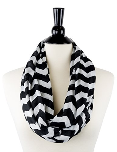 Womens Chevron Patterned Infinity Zipper product image