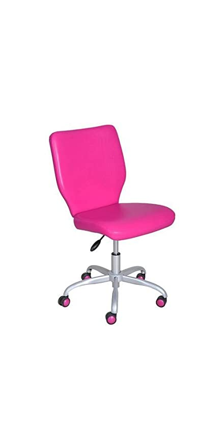 Merveilleux Pink Armless Desk Chair, Great For College Dorms And Offices
