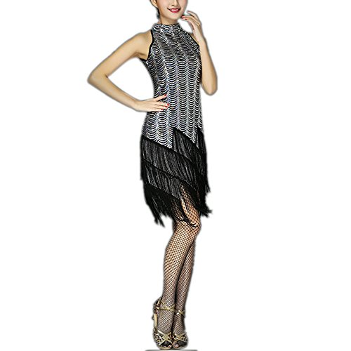 Fringe Beads Hollow Out Great Gatsby Style Themed Prom Semi Formal Dress -