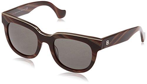 Balenciaga BA 60 BA0060 64A coloured horn / smoke sunglasses