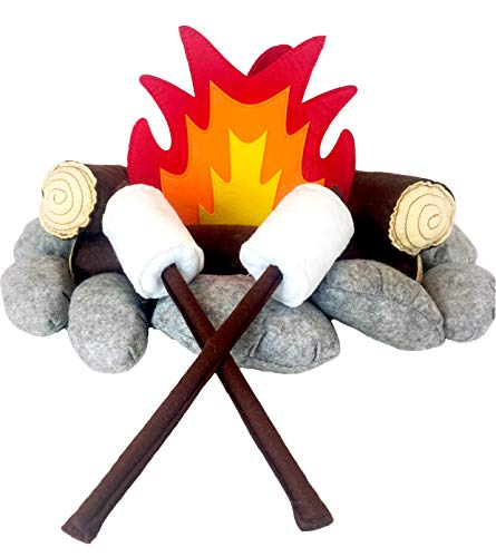 The 'Happy Camper' Felt/Plush Campfire Set for
