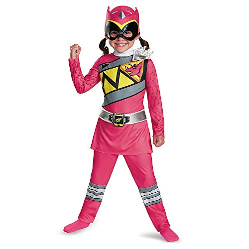 Disguise Pink Ranger Dino Charge Toddler Classic Costume, Large (4-6x) -