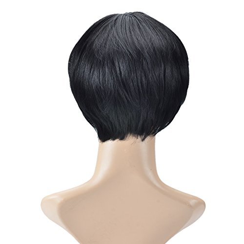 Human Hair Straight Bob Short Wigs for Woman,fresh and Supple,Black