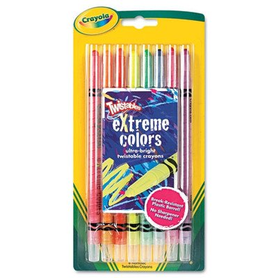 Twistable Crayons (8 Neon Colors/Set) [Set of 2]