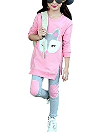 Cute Little Girls' 2 Pieces Long Sleeve Top Pants Leggings Clothes Set Outfit
