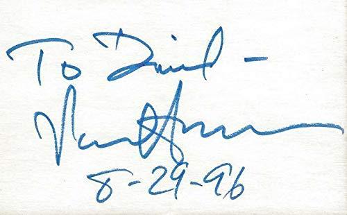 Senator Paul Simon Signed 3x5 Index Card C - Paul Simon Signed